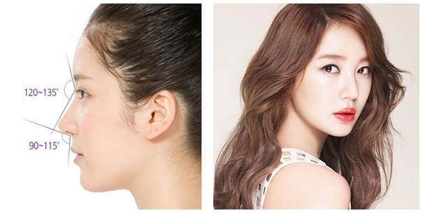 Low and blunt nose tip is changed into a sharp nose tip for a refined and feminine look.