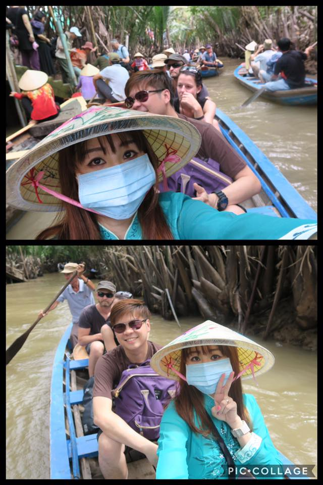 She had a wonderful travel in Vietnam with her husband