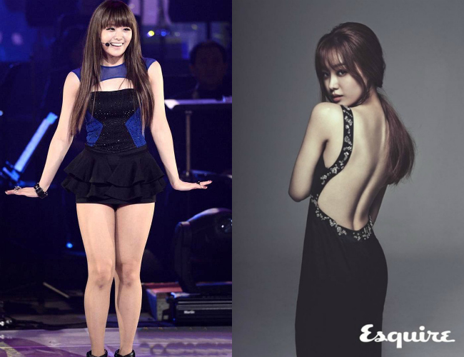 Korean Idol before and after liposuction
